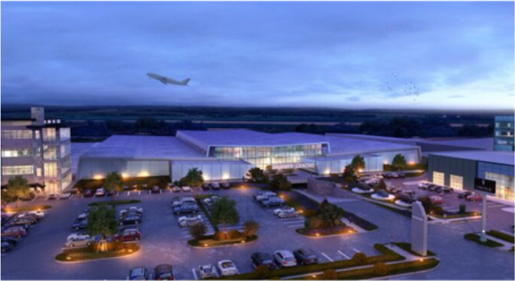AVIATION BASE LANDS AT OLD BRANIFF HQ AT DALLAS' LOVE FIELD